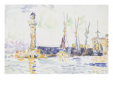La Phare Poster by Paul Signac