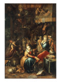 An Alchemist's Kitchen Posters by Frans Francken the Younger