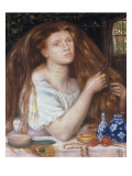 Woman Combing her Hair, 1865 Prints by Dante Gabriel Rossetti