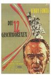 Twelve Angry Men, German Movie Poster, 1957 Photo