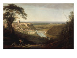 Landscape with View of Richmond Castle Giclee Print by George Cuitt