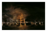 The Bombardment of Algiers, 1819 Prints by Thomas Luny