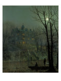 Knostrop Old Hall, Leeds, 1883 Prints by John Atkinson Grimshaw