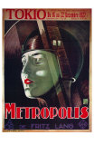 Metropolis, French Movie Poster, 1926 Print