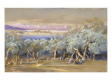 Corfu from Vonista, 1856 Giclee Print by Edward Lear