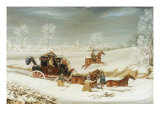 The Mailcoach in a Drift of Snow, 1825 Prints by James Pollard