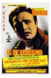 On the Waterfront, Spanish Movie Poster, 1954 Juliste
