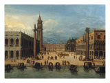 Venice, the Piazza San Marco Giclee Print by Louis de Caullery