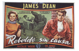 Rebel Without a Cause, Spanish Movie Poster, 1955 Posters