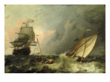 Shipping on a Choppy Sea Giclee Print by Ludolf Backhuysen