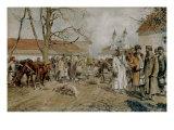 A Market Scene, 1909 Prints by Antoni Kozakiewicz