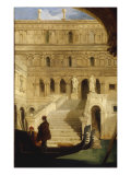 The Courtyard of a Venetian Palace, 1839 Giclee Print by James Holland
