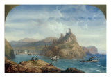 Mediterranean Coastal Scene, 1859 Posters by Carlo Bossoli