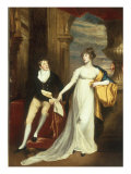 Portrait of Mary Montagu and Robert Copley, Her Brother Poster by John Singleton Copley