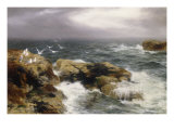 Sea-Girt Crags, 1886 Giclee Print by Peter Graham