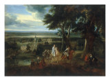 Rudolf of Hapsburg Lending his Horse to a Priest Carrying the Holy Sacrament Art by Jacques d' Arthois