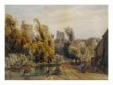 View of Windsor Castle from the Thames Giclee Print by Thomas Shotter Boys