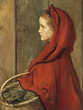 Red Riding Hood (A Portrait of Effie Millais, the artist's daughter) Giclee Print by John Everett Millais
