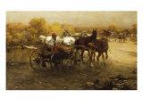 Off to Market Giclee Print by Alfred von Wierusz-Kowalski