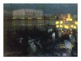La Serenade, Venise, 1905 Gicléetryck av Henri Le Sidaner