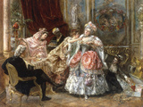 Dressing for the Ball Giclee Print by Eduardo Leon Garrido