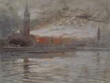 Venice, San Giorgio Maggiore and the Bacino Posters by Albert Goodwin