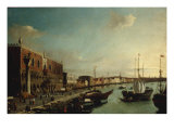 The Entrance to the Grand Canal, Venice with the Doges Palace to the Left Prints by William James