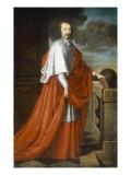 Portrait of Cardinal Mazarin Print by Philippe De Champaigne
