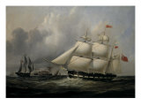 The Barque 'Rival' (335 tons) off the Coast Giclee Print by Joseph Heard