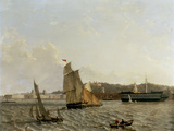 Greenwich from across the River with Hospital, the Observatory and the Hospital Ship 'Dreadnought' Prints by John Wilson Carmichael