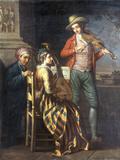 A Neapolitan Musical Party Reproduction procédé giclée par David Allan