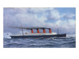 The Liner 'Lusitania', 1908 Prints by Antonio Jacobsen