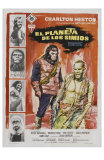 Planet of the Apes, Spanish Movie Poster, 1968 Photo