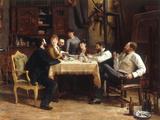 A Friend's Lunch, 1885 Prints by Fernand Cormon