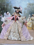 The Masked Ball (18th century costumes) Giclee Print by Georges Clairin