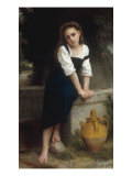 Orphan by a Spring (Orpheline a la Fontaine), 1883 Prints by William Adolphe Bouguereau