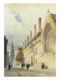 Jesus College from Thurl Street, Oxford, 1832 Giclee Print by Thomas Shotter Boys