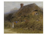Woman by a Cottage Gate Posters by Helen Allingham