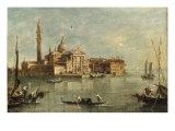 enice, the Island of San Giorgio Maggiore Giclee Print by Giacomo Guardi