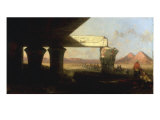 Egyptiqan Landscape with a Distant View of the Pyramids, 1862 Giclee Print by David Roberts