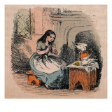 Cinderella at the Stove Prints by Theodor Hosemann
