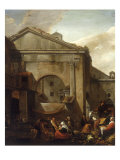 An Italianate Fruit and Vegetable Market Scene Prints by Thomas Wyck