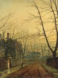 John Atkinson Grimshaw - Hampstead - Autumn Gold, 1880 Digitálně vytištěná reprodukce
