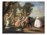 Elegant Figures Making Music and Dancing in the Grounds of a Palace,1745 Giclee Print by Peter Jacob Horemans