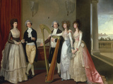 Portrait of Henry Vansittart (died 1787) and his Family Giclee Print by Thomas Hickey