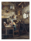 A Crofter's Kitchen Giclee Print by Tom McEwan