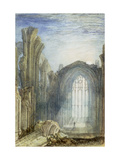 Melrose Abbey: an Illustration to Sir Walter Scott's 'The Lay of the Last Minstrel' Art by William Turner