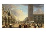Ansicht des Markusplatzes mit der Piazzetta Prints by Luca Carlevaris