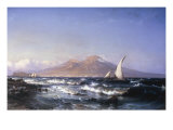 A Breezy Day in the Gulf of Naples, 1867 Giclee Print by Carl Frederick Sorensen