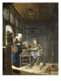 The Interior of a Cobbler's Shop Giclée-Druck von Domenicus van Tol